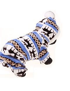 pejsky mikiny / Kombinéza Modrá Oblečení pro psy Zima / Jaro/podzim Květiny Sportovní / Zahřívací