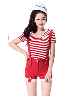 Cosplay Costumes Party Costume Student/School Uniform Career Costumes Sailor/Navy Festival/Holiday Halloween Costumes Red Black SolidTop
