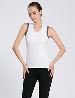 Corrida Pulôver Camiseta Polo Mulheres Sem Mangas Respirável Secagem Rápida Compressão Confortável Poliéster ElastanoGolfe Corridas