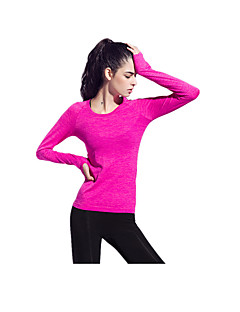 Yokaland Mulheres Camiseta de Corrida Manga Longa Secagem Rápida Respirável Confortável Protecção Reduz a Irritação Redutor de Suor Blusas