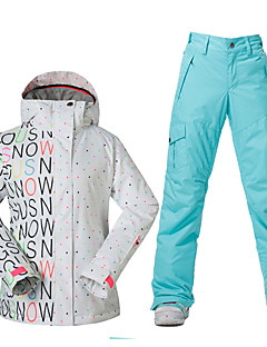 Hiking Ski/Snowboard Jackets Women's Waterproof Thermal / Warm Windproof Spring Fall/Autumn Winter Polyester Skiing Skating