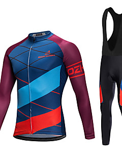 AOZHIDIAN Spring/Summer/Autumn Long Sleeve Cycling JerseyLong Bib Tights Ropa Ciclismo Cycling Clothing Suits #AZD045