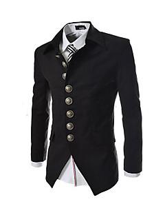 Herren Solide Vintage Ausgehen Blazer,Hemdkragen Frühling Langarm Standard Others