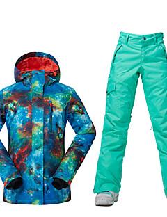 Sport Skiklær Ski/Snowboardjakker Dame Vinterplagg Polyester VinterklærVanntett Pustende Hold Varm Vindtett Fleecefor Ultraviolet