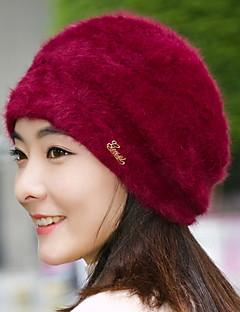 כובע כומתה (בארט) נשים חמוד מסיבה יום יומי,כותנה פרוות ארנב קיץ חורף