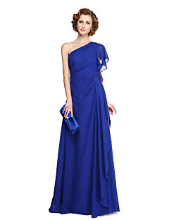 2017 Lanting Bride® A-line Mother of the Bride Dress - Elegant Floor-length Sleeveless Chiffon with Pleats
