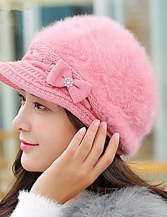 כובע כומתה (בארט) נשים חמוד מסיבה יום יומי,כותנה דמוי פרווה קיץ חורף