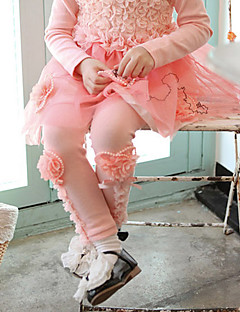 Boy's Cotton Fashion Spring/Fall/Winter Going out/Casual/Daily Warm Lace Flower Pearl Children Pants Leggings