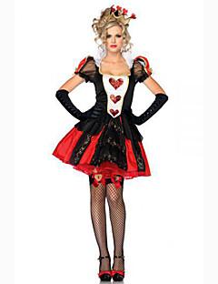 Cosplay Kostumer Festkostume Maskerade Troldmand/Heks Dronning Cosplay Film Cosplay Rød Ensfarvet Kjole Hovedtøj Halloween Karneval