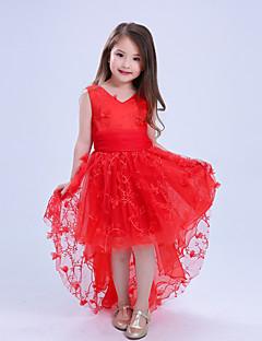 שמלה כותנה פוליאסטר תחרה מש קיץ ללא שרוולים יום יומי\קז'ואל מסיבה\קוקטייל חג אחיד הילדה של