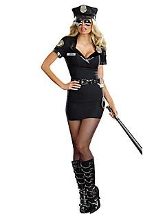 Cosplay Kostuums Feestkostuum Politie carrière Kostuums Film cosplay Kleding Hoed Halloween Carnaval Vrouwelijk