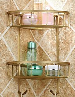 Bathroom Shelf Antique Copper Wall Mounted 380*210*70mm(14.96*8.26*2.75inch) Brass Antique