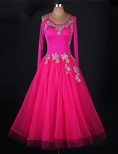Devemos vestidos de dança de salão mulheres vestido de organza chinlon