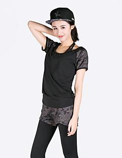 Běh Sportovní podprsenky Sady oblečení/Obleky Dámské Krátké rukávy Prodyšné Rychleschnoucí Modální Polyester Jóga Fitness BěhSportovní