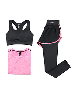 Women's Long Sleeve Running Sports Bra T-shirt Clothing Sets/Suits Breathable Quick Dry Spring Summer Fall/Autumn Sports WearYoga