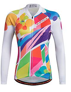 Φανέλα ποδηλασίας Γυναικεία Μακρύ Μανίκι ΠοδήλατοΑναπνέει Γρήγορο Στέγνωμα Διαπερατότητα Υγρασίας Μποστινό Φερμουάρ Φερμουάρ YKK