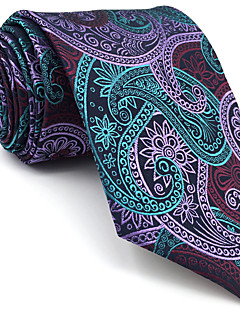B15 Mens Neckties Green Multicolor Paisley 100% Silk Business Fashion Wedding For Men