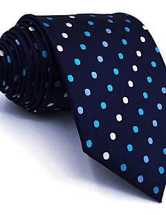 Masculino Gravata Azul,Vintage Fofo Festa Trabalho Casual Poás Raiom Todas as Estações
