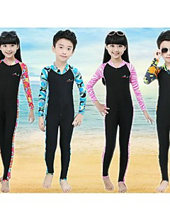 Bluedive לילדים חליפות רטובות Skins הצלילה חליפה רטובה מלאה שמור על חום הגוף ייבוש מהיר עמיד אולטרה סגול רוכסן קדמי קרם הגנה גוף מלא