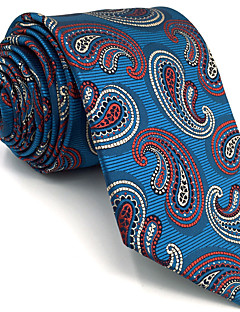 Masculino Gravata Azul,Vintage Fofo Festa Trabalho Casual Paisley Raiom Todas as Estações