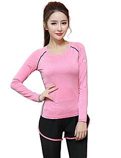 Žene Dugi rukav Trčanje T-majica Majice Prozračnost Quick dry Proljeće Ljeto Sportska odjeća Yoga Sposobnost Trčanje Modal Slim