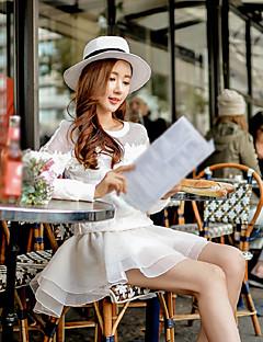 Damen Röcke,A-Linie einfarbig Tüll Mehrschichtig,Ausgehen Lässig/Alltäglich Urlaub Einfach Niedlich Street Schick Hohe Hüfthöhe Mini