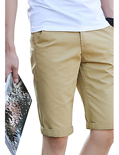 Men's Plus Size Slim Chinos Shorts Pants,Casual/Daily Beach Holiday Vintage Simple Street chic Solid Low Rise Zipper ButtonCotton