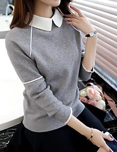 merkki 2017 keväällä villapaita villapaita naisten Korean lyhyt kappale nukke kaulus löysä pitkähihainen paita