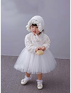 Baby Fest/Cocktail Kjole Ensfarget Polyester Alle årstider Hvit