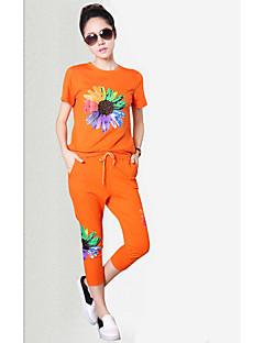 underskrive station europa ny kortærmet afslappet sportstøj dragt kvindelige sommer stykke bukser