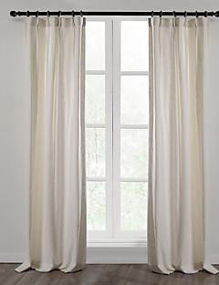 Două Panouri Tratamentul fereastră Țara Modern Mediteranean European Designer  , Solid Sufragerie Amestec In / Bumbac Materialperdele,