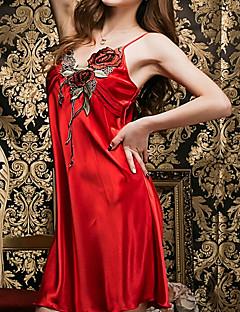 Dámské Uniformy a kostýmy Noční prádlo Sexy Jednobarevné-Umělé hedvábí Střední Dámské
