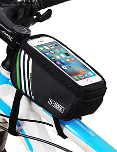 B-SOUL Cyklistická taška 1.8LWaterproof Brašna na rám Oválná taška Nositelný Držák na iPhone Dotyková obrazovka Taška na kolo Terylen