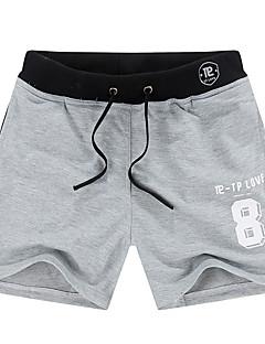 Herre Løstsittende Store størrelser Shorts Bukser-Sport Strand Aktiv Enkel Bokstaver Trykt mønster Broderi Mellomhøyt livElastisitet