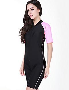 SBART Femme Combinaison de plongée Combinaison Courte Résistant aux ultraviolets Coque Intégrale Chinlon Tenue de plongée Manches Courtes
