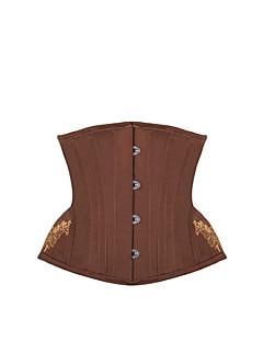 여성 언더버스트 코르셋 잠옷,섹시 푸시 업 Kontor/företag 솔리드-여성의 중간 폴리에스테르