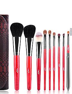 MSQ® 10pcs Makeup Brushes set Bristle/Pony/Goat/Horse/Wool Hair Hypoallergenic/Limits bacteria Blush brush Shadow Brush Eyeliner/Lip/Brow Brush