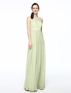 LAN TING BRIDE Na zem Klenot Šaty pro družičky - Elegantní Bez rukávů Šifón