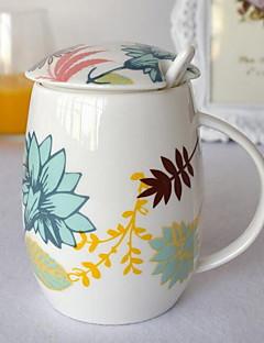 gekleurde Glazen en bekers, 300 ml Decoratie Keramiek Naakt Melk Dagelijks drinkgerei