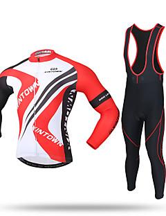 XINTOWN Calça com Camisa para Ciclismo Homens Manga Comprida MotoCalças Moletom Camiseta com Fecho Camisa/Roupas Para Esporte Tights Bib