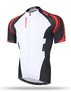 XINTOWN Men's Short Sleeves Bike Tops Quick Dry Breathable Back Pocket Sweat-wicking Comfortable Terylene Spring Summer Fall/Autumn