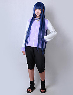 Inspired by Naruto Hinata Hyuga Anime Cosplay Costumes Cosplay Suits Solid Long Sleeve Coat Shorts For Male Female