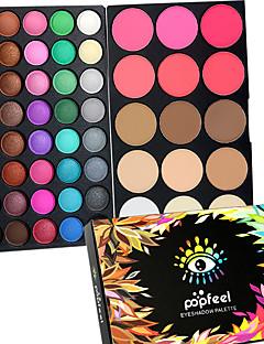 40 Color Eyeshadow + 15 Color Face Blush&Concealer Contour 컨실러/Contour 블러쉬 하이라이터 & 브론저+아이섀도우 건조 젖은 무광 희미하게 반짝이는 눈 얼굴확장 쉬머의 번쩍 이는 글로스 색깔있는