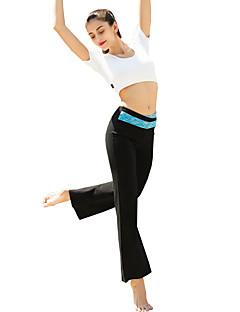 Штаны для йоги Брюки Нижняя часть Дышащий Удобный Естественный Стреч Эластичность Спортивная одежда Чёрный Жен.Йога Пилатес Аэробика и