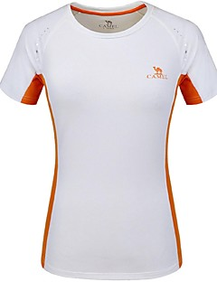 CAMEL® Women's T-shirt Camping / Hiking Climbing Team Sports Cross-Country Running Breathable Quick Dry Summer Color White