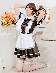 Cute Girl Black and White Ruffles Apron Maid Uniform Cosplay Costumes Party Costume Maid Costumes Career Costumes Festival/Holiday Halloween Costumes
