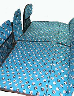 Kék autó Matrac Dupla(136*90*3cm)Pamut Biztonsági sárvédő Hordozható Gyermekeknek Kényelmes Állítható