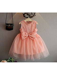 Girl's Casual/Daily Solid Dress Summer Fall Half Sleeve