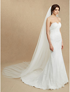 Wedding Veil Two-tier Cathedral Veils 116.14 in (295cm) Tulle