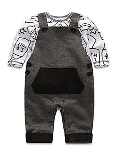 bébé Décontracté / Quotidien Couleur Pleine Imprimé Ensemble de Vêtements,Habillement Printemps Automne